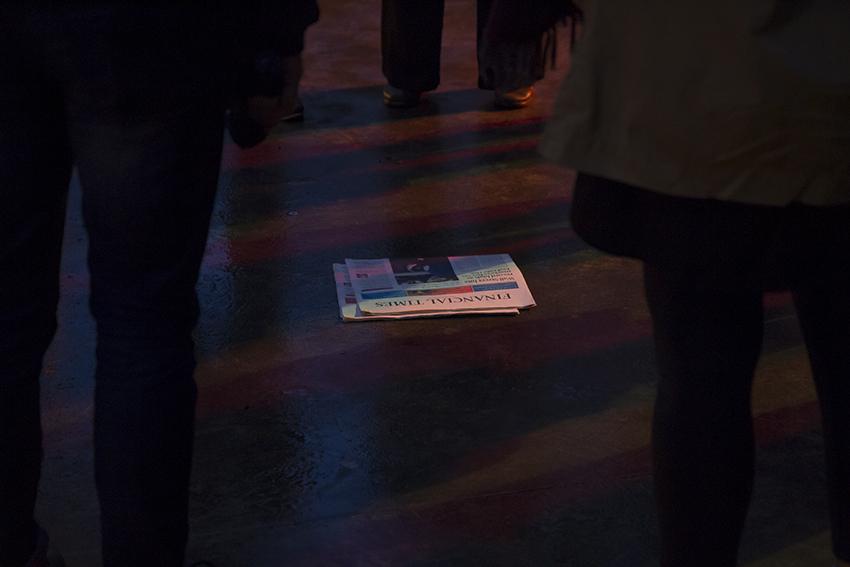 Rituel de désenvoûtement de la finance. Nuit Blanche Bruxelles © Beata Szparagowska