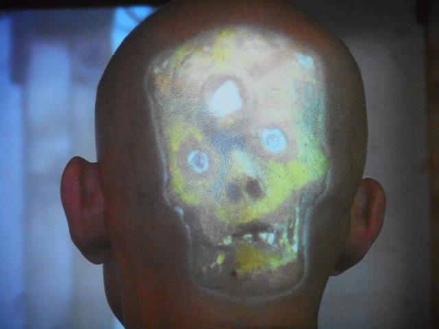 Psycho-Ancéphalo-Géographie de l'os pariétal, une conférence d'auto-anthropologie. © Julien Celdran