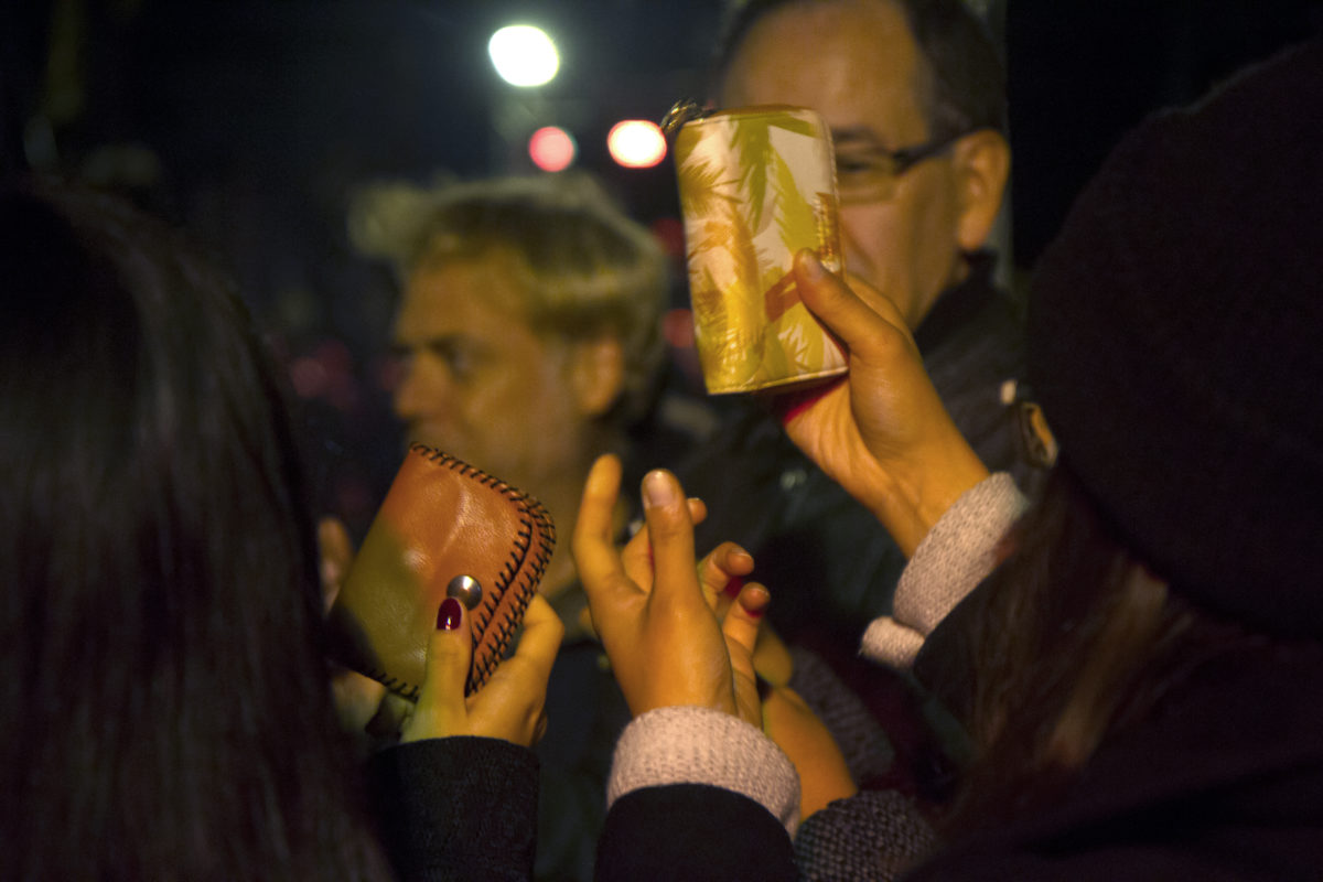 Ritual of unbewitch finance. Nuit Blanche Bruxelles © Beata Szparagowska
